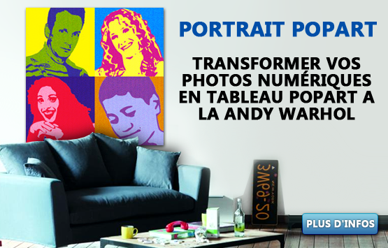 tabeau pop-art a la andy wharol